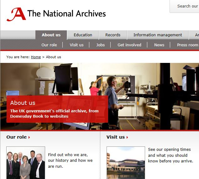 National Archives Home Page